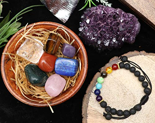 Crocon 9 Piece Natural Healing Crystal Set | Reiki Healing |...
