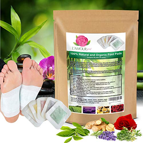 50 Premium 2-in-1 Foot Pads | Concentrated Formula | for Foot Care, Pain Relief, Relaxation, & General Well-Being | 5 Special Blends | by L'AMOUR yes!