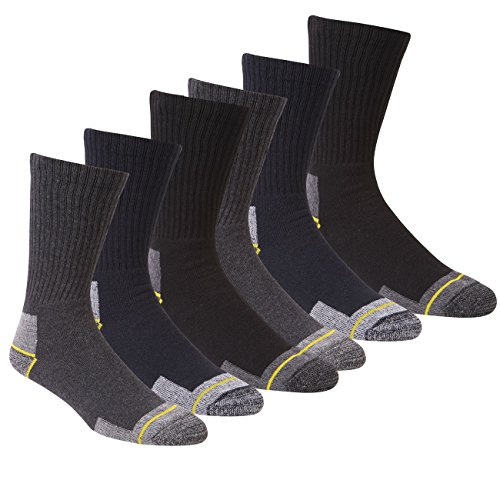 WORK SOCKS Men's Size 12-14 Thick Socks (12 Pair Multipack) Heavy Duty Reinforced Heel For Steel Toe Boots - Assorted Colours 2 Pk - Size 6-11