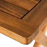 Deuba Gartentisch klappbar aus Akazienholz - 5