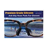 5 Pair Black - 2.5mm x 17mm Non-Slip Nose Pads for Eyeglasses by GMS Optical - Premium Grade Silicone