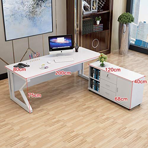 JiaQi Grande Ufficio Capo Desk,Semplice Moderna Computer da Tavolo con Armadio di...