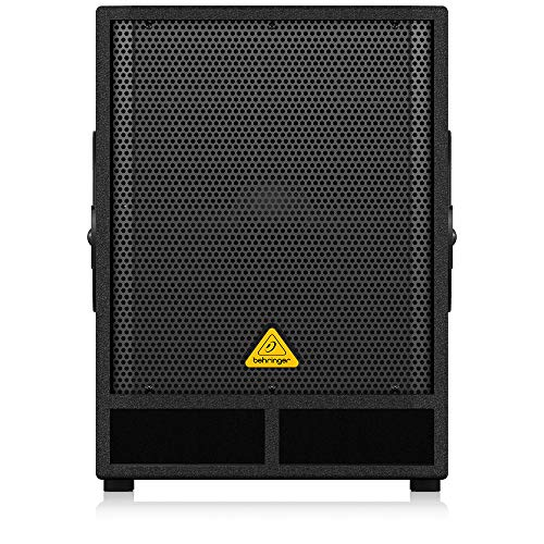 BEHRINGER Professional Active 500-Watt 15' Pa Subwoofer with Built-In Stereo Crossover Black, (VQ1500D)