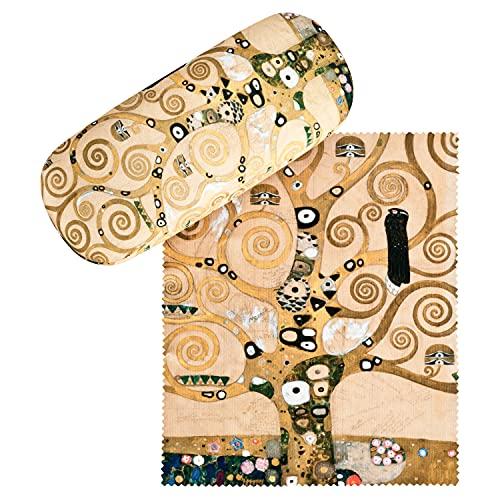 VON LILIENFELD Portaocchiali Regalo Leggero Astuccio Occhiali Stabile Colorato Compatto Donna Uomo Arte Gustav Klimt: Albero della vita