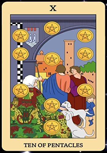 Ten of Pentacles: Tarot Card Journal, Divination Journal,...