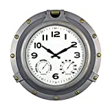 Poolmaster 52538 18' Silver Porthole Clock