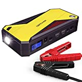 DBPOWER 800A Peak 18000mAh Portable Car Jump Starter (up to 7.2L Gas, 5.5L Diesel Engine) Battery Booster with Smart Charging Port (Black/Yellow)