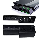 PS4 Cooling Fan,Lyyes Cooling Fan Host Cooler External Temperature Control for Playstation 4 (ps4 Black)