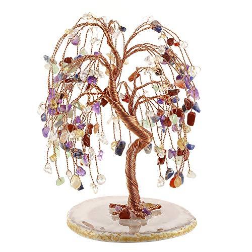 JOVIVI Natural 7 Chakra Healing Crystals Quartz Tree Tumbled...