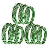 Haudang 9 rollos de bonsi de aluminio anodizado para entrenamiento de bonsi con 3 grren (1,0 mm, 1,5 mm, 2,0 mm), color verde