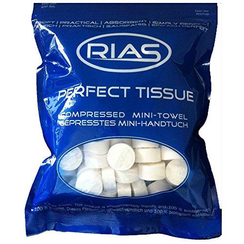 RIAS - Paños secos originales en forma de pastillas, 100% b