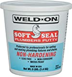 Weld-On 80103 Soft Seal Stain-Free Plumber's Putty - Lead-Free,...