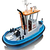 Sevenmore Model Ship DIY Tools Kit 1:18 Pine Mini 270130190m RC Tugboat Rescue Simulation ABS Wooden Boat Model Ship DIY Tools Kit Q1