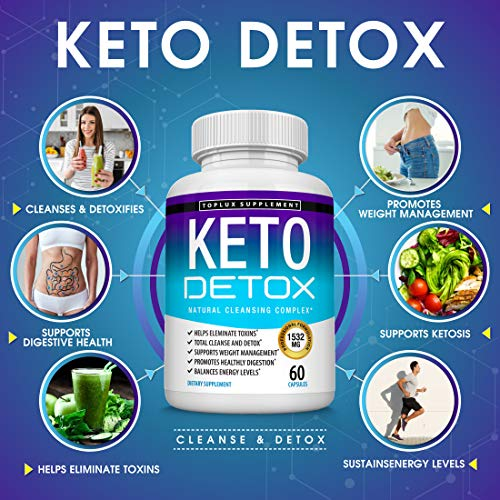 Keto Detox Pills Advanced Cleansing Extract – 1532 Mg Natural Acai Colon Cleanser Formula Using Ketosis & Ketogenic Diet, Flush Toxins & Excess Waste, for Men Women, 60 Capsules, Toplux Supplement 6