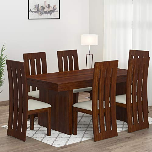 Mamta Decoration Sheesham Wood Dining Table Set with 6 Chair for Living Room (Teak Finish)