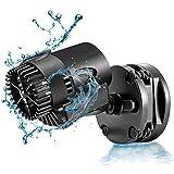 AQQA Aquarium Wavemaker Circulation Pump,360°Adjustable Ultra-silence Magnetic Mount Suction Submersible Powerhead Pump,530GPH Flow For Freshwater or Saltwater Fish Tank (3W 530GPH)