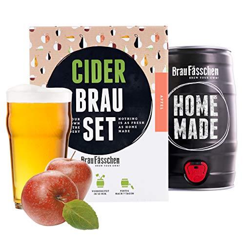 Kit para elaborar Cider de Manzana en Casa - Producto de Alemania - Disfruta tu Cider en sólo 7 días - Brewbarrel Braufässchen - Regalos Originales para Mujer…