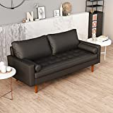 Modern Faux Leather Sofa, Couch for Living Room, for Apartment, Small...