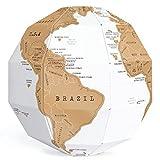 Exerz EX-SCGL20 Globe à Gratter (Diamètre: 20 cm)/ Scratchable Globe -...