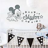 stickers muraux stickers muraux chambre Sticker prénom personnalisé Mickey Mouse Personnalisé Garçon Fille Nom Chambre Bébé Chambre d'enfant