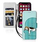 幸せなソファ犬かわいいビーグル Iphone11スマホケース 手帳型 レザー 財布型 ワイヤレス充電……
