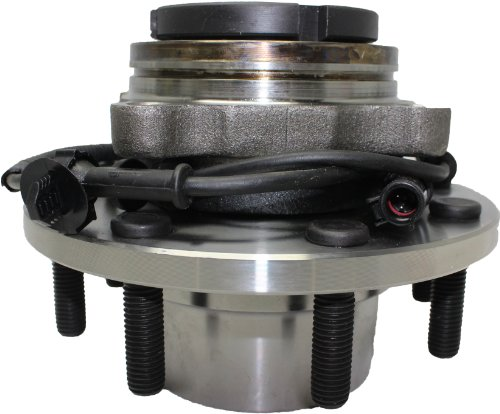 Detroit Axle - Coarse Threads Front Wheel Hub and Bearing Assembly w/ABS for 1999-2004 F-350 Super Duty/F-250 Super Duty - [2000-2002 Excursion] - SRW 4x4 Only