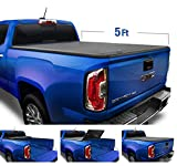 Tyger Auto Black Top T3 Soft Tri-Fold Truck Tonneau Cover for 2015-2019 Chevy Colorado/GMC Canyon Fleetside 5'2' Bed TG-BC3C1039