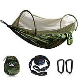 NATUREFUN Hamac de Voyage Ultra-léger Camping avec moustiquaire  300 kg de...