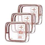 UTOTEBAG Trousse de Toilette Transparente, Kit de Voyage pour l'Avion Set...