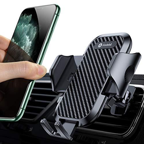andobil Handyhalterung Auto Handyhalter fürs Auto Lüftung Upgrade mit 2 Lüftungsclips Smartphone kfz Halterung 360° Drehbar Handyhalterung für iPhone SE 11 11Pro Samsung S20 S10 Huawei Xiaomi usw