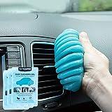 Ticarve Gel detergente per interni auto, morbido e flessibile, plastilina per la pulizia della tastiera in argilla ecologica ed universale, per auto, ufficio e casa (confezione da 3)