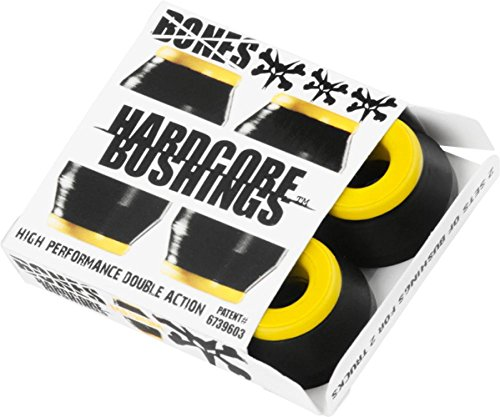 Bones Hardcore 4pc Medium Black Yellow Bushings Skateboard Bushings