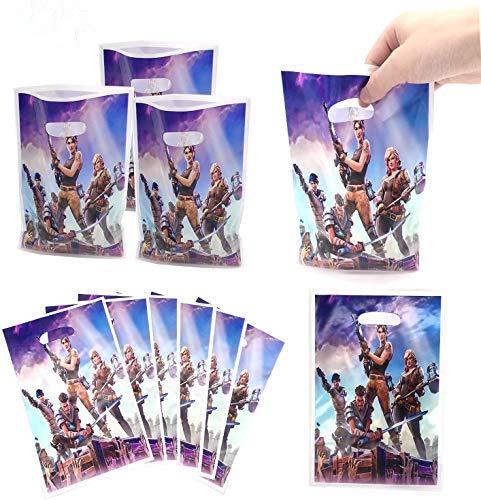 HASAKA 1 pack 30 Bolsas de Regalo de Fiesta Battle Royale Bolsas de Fiesta de Videojuegos para niños Decoraciones de Fiesta temáticas Suministros de Fiesta de cumpleaños Favores y Baby Shower