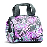 Fit and Fresh 902FFST808 Charlotte Insulated Lunch Bag for Women, 9' x 6' x 8', Pink Aqua Paisley