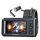 DEPSTECH Dual Lens Industrial Endoscope, 1080P Digital Borescope Inspection Camera with 7.9mm IP67 Waterproof Camera, Sewer Camera with 4.3' LCD Screen, 7 LED Lights,16.5FT Semi-Rigid Cable, 32GB Card