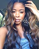 ZANA Body Wave Brazilian Human Hair Wigs for Black Women Glueless Lace Front Wigs Two Tone Ombre Color