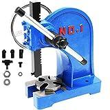 SENDUO Arbor Press 1 Ton,Ratchet Leverage Arbor Press with Handwheel,Manual Desktop Punch Press Machine Metal Arbor Press Tool,for Stamping,Bending,Stretching,Forming
