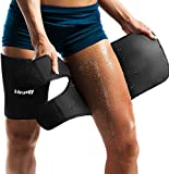 Neoprene Thigh Brace Support Hamstring Compression Sleeve Adjustable Upper Leg Wraps for Women and...