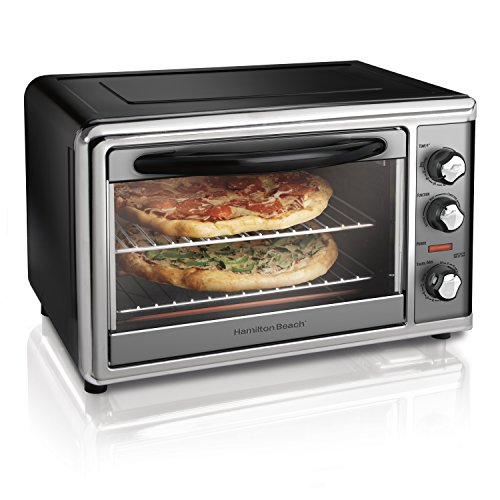 Hamilton Beach Countertop Rotisserie Convection Toaster Oven, Large, Stainless Steel (31107D)
