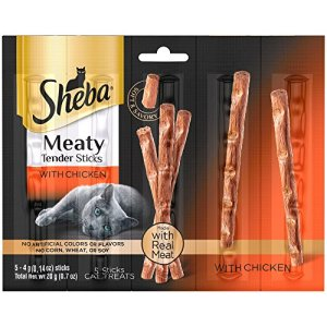 6-Bags-of-Sheba-Meaty-Tender-Sticks-with-Chicken-Cat-Treats-07-Oz-5-Treats-in-ea-Bag