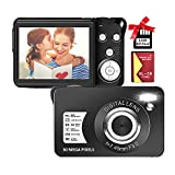 Digital Camera,30MP Compact Camera,2.7 inch Pocket Camera,Rechargeable Small Digital Camera for Kids,Students,School,Children,Photography with 8X Digital Zoom(32GB SD Card Included,1 Battery)