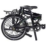 "Dahon Mariner I7 Folding Bike, Lightweight Aluminium Frame 7-Speed Shimano Gears 20"" Foldable Bicycle for Adults, Black"