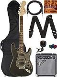 Fender Squier Affinity Stratocaster - Montego Black Metallic Bundle with Frontman 10G Amplifier, Gig Bag, Instrument Cable, Tuner, Strap, Picks, and Austin Bazaar Instructional DVD
