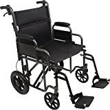 ProBasics Bariatric Transport Chair with 12-inch Rear Wheels