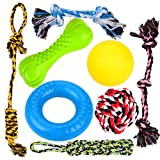 8 Durable Dog Chew Toys, Puppy Toys, Dog Rope Toys Value Pack, Puppy Teething Toys for Small and Medium Dogs