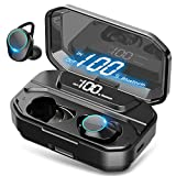 [2019 Ultimate] True Wireless Earbuds Bluetooth 5.0 Headphones, IPX7 Waterproof Earphones for Sports, 110H Playtime w/ 3300mAh Charging Case, 3D Stereo Audio Touch Control in-Ear Headset w/Mic