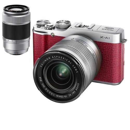 FUJIFILM デジタルカメラミラーレス一眼 X-A1ダブルズームレンズキット レッド F X-A1R/1650/50230KIT
