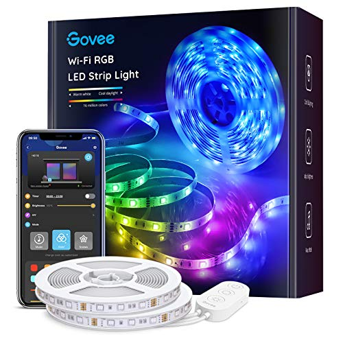 Govee RGB Led Strip Lights, 32.8 Feet with Smart App Control and...