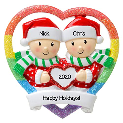 Personalized Christmas Ornament Couples- Gay Men Couple/...