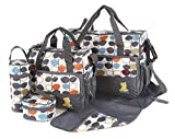 Kit de 5 sacs à langer pour bébé - Laminés, étanches, isolés,...